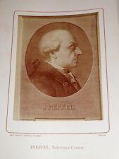 PHOTOGRAPHIE ANCIENNE Portrait PFEFFEL Lettres AUFKLARUNG BIOGRAPHIE ALSACE 1884