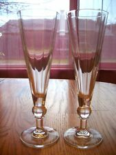 Clear Glass Contemporary Simple, Elegant Flutes    -- 318