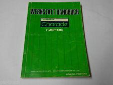 Workshop Manual Daihatsu Charade Chassis Body Horseflies, Piece 07/1979