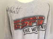 New 2004 Espn The Weekend Walt Disney World T Shirt Xl Autograph Kirk Herbstreit
