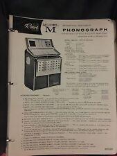 "Juke box  Manuale originale  Rowe AMI "" M Tropicana ""  Stereo"