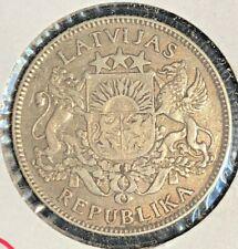 Latvia 1924  1 lats KM 7