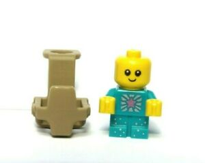 LEGO Baby Turquoise Sparkle & Carrier White Minifigure Not Inc Great Xmas Gift