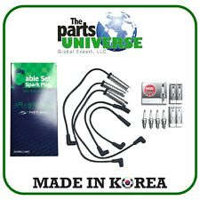 Spark Plug Wire Kit High Tension & Spark Plugs for Daewoo Cielo  Nexia NP1332,