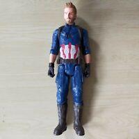 "Captain America POWER FX MARVEL TITAN HERO 12"" ACTION FIGURE HASBRO Avengers"
