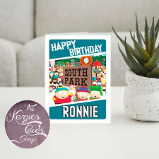 Personalised South Park Cartoon Gamer Birthday Card-A5 260gsm Gloss Finish