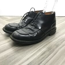 Loake Made In England Black Mens Loafer Dress Shoe Sz 9.5 Shoe No 13358 Lace Up