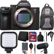 Sony Alpha a7 III Mirrorless Digital Camera (Body Only)+ LED Light Accessory Kit