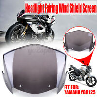 Front Headlight Fairing Wind Shield Screen Fit For Yamaha YBR 125 YBR125