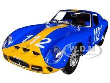 FERRARI 250 GTO BLUE #112 1/24 DIECAST MODEL CAR BY BBURAGO 26305