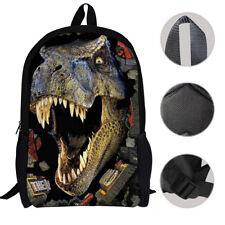 Boys Men Durable Dinosaur Printed School Bag for Backpacks School Bag NEW