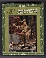 ROYAL MODEL 153 - BRITISH MARINE COMMANDO (HOLDING PANZERFAUST) - 1/35 RESIN KIT