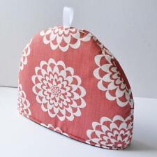 Scandinavian Scandi Retro Vintage 60s Mid century fabric Tea cosy - Lycka Coral
