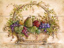 Mural Ceramic Grape Pear Basket Backsplash Tile #117