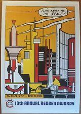 Roy Lichtenstein 1965 Reuben Awards NYC This Must Be The Place Poster Pop Art 59