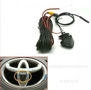 Car Auto HD Front View Camera Logo Embedded 170° Wide Lens For Toyata Camry Free