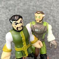 2X Fisher-Price Imaginext DC Super Friends Ras al ghul batman's FIGURE COMICS