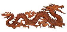 NEU schönes Relief DRACHE Holz Dragon Handarbeit Glücksdrache Rel24