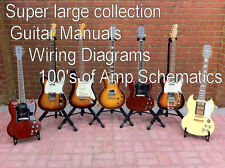 Super Large Mega Set of Guitar Manuals and  Bass Amp Technical Manuals  CD