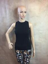 ZARA BLACK SLEEVELESS KNITTED TOP SIZE SMALL B21 REF: 5646 013