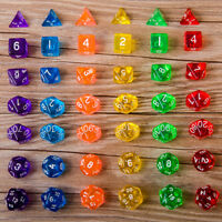 7X D10 Multi-Sided Gem Dice Die for RPG Dungeons & Dragons DND D&D Games SRSFDDI