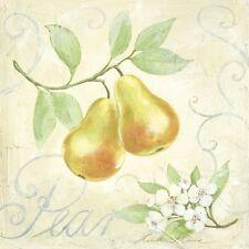 Linda Moore : Pear Tableau 30x30 mural cuisine salle à manger Maison de campagne