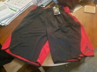 New With Tags Men's Jordan Flight Victory Dri-Fit Basketball Shorts Red & Black