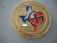VHTF Texas Autum 2005 Geocoin, gold