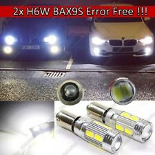 2x H6W BAX9s Car CanBus Super Power LEDs SMD White Bulbs Error Free 700 Lumen