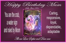 PERSONALISED ZODIAC CANCER STAR SIGN BIRTHDAY YANKEE CANDLE JAR LABEL