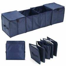 4 Section Collapsible Car Trunk Organizer Cargo Folding Storage w/ 2 Cooler Bag