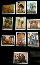 Yemen 1967 Full Set of 10 Airmail Stamps -  Paintings - MNH