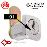 Lost Your Letterbox Keys? Keys Made- Cut To Code Number-FREE POSTAGE