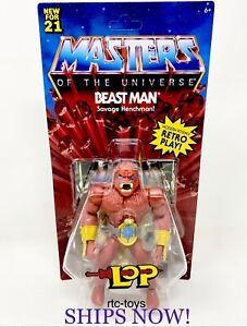 MOTU Beast Man LOP Masters Of The Universe Origins Wave 6 Retro Mattel 2021 New