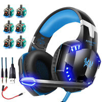 3.5mm Gaming Headset LED Headphones Stereo Surround for PS4 Xbox one X 360E PC