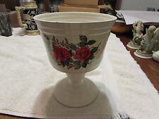 """Large Glass Flower Vase 8 1/2"""" Tall"""