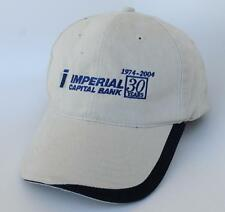 IMPERIAL CAPITAL BANK 1974-2004 Baseball Cap Hat TOYOTA GRAND PRIX LONG BEACH