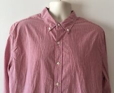 NWT Men's LeVI's Long Sleeve, Button Up Shirt - Red Stripe XL