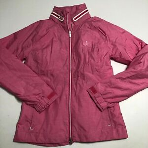 The Masters Womens Pink Full Zip Zero Restrictions Hood Jacket Size Small