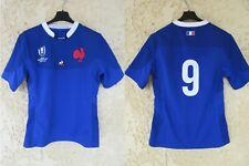 Maillot rugby QUINZE DE FRANCE WORLD CUP JAPAN 2019 Antoine DUPONT n°9 shirt M