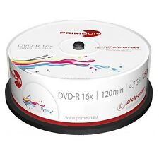 1000 X PRIMEON DVD-R Stampabili 4.7GB 120 Minuti 16X Print Inkjet Cake R 2761205