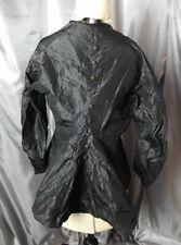 Victorian mourning blouse, antique black taffeta Button back blouse