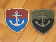 Serbian Army River Fleet patches for regular and camouflage unifrom