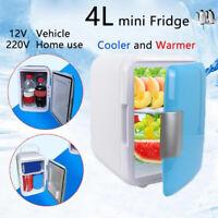 4L Portable Mini Refrigerator Cooler Warmer Fridge Box Dual-use For Car Home UK