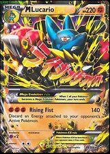 Mega M Lucario EX 55a/111 XY Furious Fists Alt Full Art NM Normal Size Pokemon