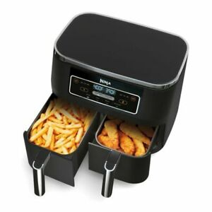 Ninja DZ100 Foodi 4-in-1 8 qt 2-Basket Air Fryer with DualZone Technology - NEW