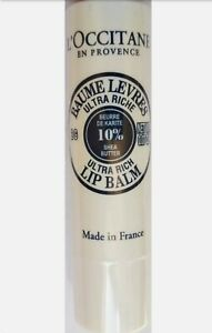 L'Occitane Natural Moisturising Shea Butter Ultra Rich Lip Balm 2G/0.07OZ Sealed