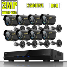 ELEC 8CH 1080N HDMI DVR 1080P AHD 2500TVL CCTV Video Security Camera System 2MP