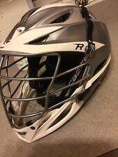 Cascade R Lacrosse Gray/White Helmet Silver Mask Black Chin Strap