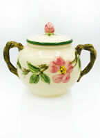 Vintage MCM Desert Rose American Franciscan Ware Sugar Bowl Green Lid '39-'49